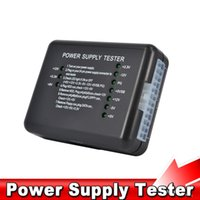 Wholesale Pc Power Supply Testers - PC Computer ATX SATA HDD Power Supply Tester LED Indication 20 24pin PSU Diagnostic Tool testing for Anode Cathode 12V 5V 3.3V