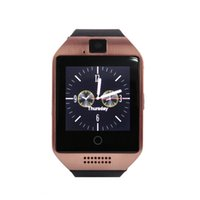 Wholesale Golden Connections - Q18 Bluetooth Smart Watch Support SIM Card NFC Connection Health Smartwatches For Android Smartphone with Retail Package free DHL