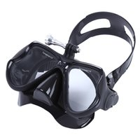 Wholesale Brooch Doves - brooch Goggles Diving Professional Spearfishing Scuba Silicone Eyewear Swimming Diving Mask Goggles With Plastic Case 4 Colors