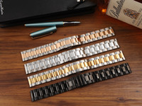 Wholesale Pearl 24mm - Hot Three Pearl watch band is coupled with a stainless steel solid Butterfly buckle 18 20 22 24mm please leave a message of color you want