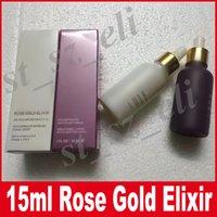 Wholesale Nail Rose Gold - New Brand Makeup 24k Rose Gold Elixir 15ml 30ml Purple Essential Oil Moisturizer face care DHL Free