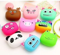 ingrosso portafogli in silicone di caramelle-Portamonete in silicone Lovely Kawaii Candy Color Cartoon Animal Borse da donna Portafogli bambina multicolor Jelly Purses Kid regalo di Natale