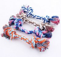 Wholesale Designs Interactive - he dog dog toy dog bite the rope The knot of design and color Pure cotton woven teeth cleaning cotton rope Teddy dogs pet interactive cotton