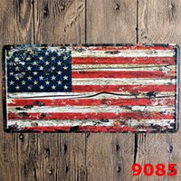 Wholesale Iron Metal Vintage Car - 15*30 CM United States Cities License Plates Metal Car Signs Decorative Wall Plaque Vintage Iron Metal Painting For Bar Decor