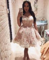 Wholesale fashion pastels - Short Bridesmaid Dresses New Fashion Lace Off Shoulder A Line Wedding Guest Dress Formal Wear Cap Sleeves Cheap Party Dress