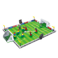 Wholesale hobby toys online - AUSINI Model building kits city football D blocks Educational model building toys hobbies for children