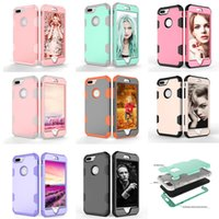 Wholesale Iphone Wallet Case Protect - for iphone x Shockproof Phone Cases for IPhone x 8 7 6s Plus samsung galaxy note 8 S8 Plus Hybrid Full-Body Protect Case