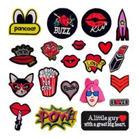 Wholesale Diy Phone Stickers - Vintage Embroidery Flower Letter Patch Flatback for DIY Phone Case Sticker Decorations Bag Hat Cloth Applique