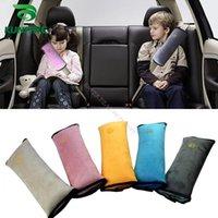 bebek arabası güvenlik minderi koltuk toptan satış-Yumuşak Bebek Araba Emniyet Emniyet Kemeri Demeti Omuz Pad Yastık Boyun Emniyet Kemeri Çocuk Koruma için KF-A1064