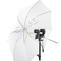 "Wholesale White Translucent Umbrellas - Wholesale-43"" 110cm Studio Flash Soft Translucent White Umbrella Diffuser For Dslr Foto Photography"