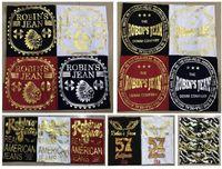 Wholesale printed jean shorts - New Robin's Jean Shirts Mens Robin Jeans Shirts Cotton robins Hip Hop Men Short Sleeve T Shirt Robin Short Tops Sizes M-3XL