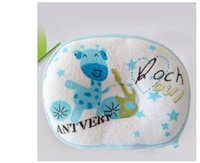 Wholesale Cotton Baby Pillow Infant Bedding Print star Little Foam Neck Support Preventing Flat Head Syndrome