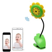 Wholesale Wireless Vedio Camera - Sunflower Wireless Baby Monitor Vedio Baby monitor Nanny Wifi IR Night Vision Sleep Monitor Camera Audio Mini Camera