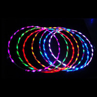 Wholesale Led Hula Hoops Wholesale - Wholesale- 90cm LED Glow Hula Hoop Performance Hoop Sports Toys Loose Weight Toy Kids