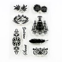Wholesale Scrapbook Themes - Wholesale- vintage wedding diy clear stamps for memory sealing scrapbook love theme pattern cheap