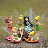 Wholesale Plastic Insects Toys - Flower Fairy Pixie Dust Princess Fly Wing Miniature Garden Ornament in Action Figurine Miniature Figures Fairy Decor Toys Doll