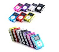 Wholesale Mp3 Player Clip Retail - MP3 Player Mini Clip Music Player with LCD Screen Support Micro TF SD Memory Card Come With USB Cables Earphones Crystal Retail Box