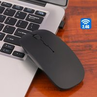 Wholesale Wholesale Computers Laptop Desktop - 5 Candy colors High Quality Ultra Thin USB Optical Wireless Mouse 2.4G Receiver Super Slim Mouse For Computer PC Laptop Desktop