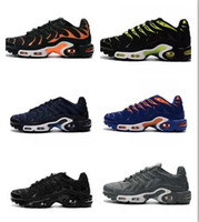 Wholesale Tn Plus Running Athletic Shoes - Wholesale Air Plus TN Chrome Men Sports Running Athletic Shoes Free Breathable Outdoor Sneakers Shoes Grey TN Requin Homme size 39-45