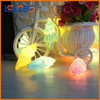 Wholesale Lamp 3v - 1Set 3V Conch LED Holiday String light Christmas Wedding Party Festival Twinkle Decoration Ocean Style Lamp Bulb