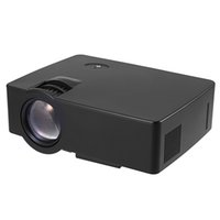 лучший полный 3d-проектор оптовых-Wholesale- New Arrival E08 LCD Projector 2500 Lumens 800 x 480 Pixels 1080P Home Theater Built-in Stereo Speaker Home Theater