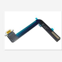reemplazo del conector de base ipad al por mayor-Nuevo reemplazo del cable de la flexión del conector del muelle del cargador del puerto de carga del USB del 100% original para el aire Ipad Air 1 iPad 5 10pcs / lot que envía libremente