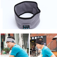 Wholesale Wired Hats - Hair Band Wireless Bluetooth Headphone Headband Sports Scarf Yoga Dance Cap Hat Music Handsfree Headset with Mic Speaker for Smart Phone