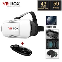 Wholesale Google cardboard VR BOX II Version VR Virtual Reality D Glasses For inch Smartphone Bluetooth Controller