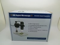 Wholesale Magnifier Pcb - 300X Zoom USB Microscope 5MP HD 8LED Digital Microscope Video Camera Electronic Magnifier Skin Detection PCB Repair Tool