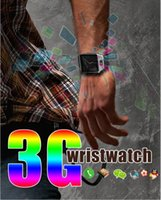 QW09 3G Wifi Wristwacth Android 4.4 1,56 pulgadas 3G Smart Watch Teléfono MTK6572 1.2GHz doble núcleo 512MB RAM 4GB ROM Bluetooth SmartWatch