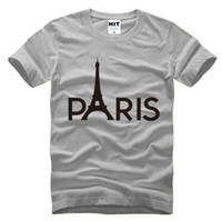 Wholesale Eiffel Tower T Shirt Men - Creative Paris Eiffel Tower Printed Mens Men T Shirt T-shirt Fashion 2017 New Short Sleeve O Neck Cotton Tshirt Tee