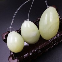 Wholesale Exercise Vaginal - 3pcs(1set) Natural Jade Egg for Kegel Exercise Pelvic Floor Muscles Vaginal Exercise Yoni Egg Ben Wa Ball Free Shipping ZA2691