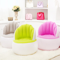 Wholesale Furniture Packages - Bedroom Furniture Flocking Inflatable Sofa Lazy Boy Sofa Single Foldable Creative Adults Type With Repair Package + Foot Pump