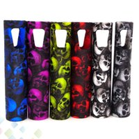 Wholesale Skull Starter Kits - Skull Case EGO AIO Silicon Case Skull Head Ego Aio Starter Kit Skin Bag Colorful Soft Silicone Sleeve Cover Skin DHL Free
