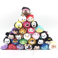 Barato Limpador De Tela Kawaii-7-9cm Mini Tsum Tsum Stuffed Toy Doll Stitch Mermaid Sully Cute Elf Screen Cleaner para Juguetes Set Kawaii Keychain Pendant