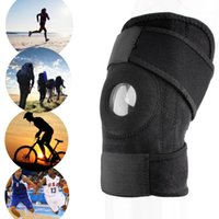 Wholesale Patella Protector - Wholesale- Men Women 1pc Adjustable Sports Training Elastic Knee Support Brace Patella Knee Pads Hole Kneepad Safety Guard Strap Protector