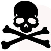 Wholesale Pirate Decal Stickers - Wholesale 10pcs lot Terror Pirate Robber Skull Cross Bone Funny Art Car Sticker for Truck SUV Home Car Decor Vinyl Decal
