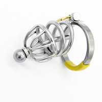 Wholesale Small Metal Chastity Cages - Chastity Devices Small Male Chastity Cage Metal Cock Ring Cockring Penis Plug Urethral Sound BDSM Sex Toys Adult Toy for Male G111