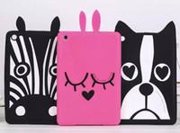 Wholesale Ipad Mini Zebra - Dog zebra puppy rabbit 3D Cover Soft Silicone Case mini 4 7.9 inch for ipad mini 4 3 2 1