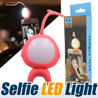 Wholesale Timers For Lights Wholesale - Super Cute Alien Taki 2 in 1 Selfie Phone fill-Light MARTUBE Selfie LED Lamp Remote Control Self-timer For Smartphone Selfie Photo