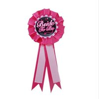 1PC Accessori da sposa Hot Pink colore Hen Bachelorette Party sposa per essere Rosette Badge Hen Night Girls Party Decor fornitura