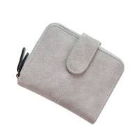 Wholesale Small Leather Pocket Change Holder - 2017 Hot Selling!Fashion Women Short Hasp Wallet Doll Polish PU Leather Purse Multifunction Clutch Small Change Clasp Money Bag