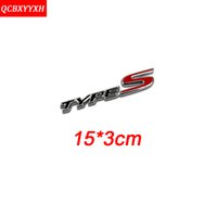 Wholesale Type S Badge - Car Sticker for HONDA CRV CIVIC HRV CITY Car Styling 3D Logo Metal TYPE-S R VTIS IVTEC Badge Wheel Drive Decal Car Tail Sticker Accessories