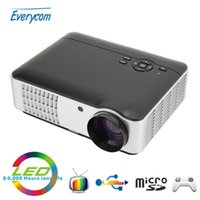 Wholesale free home theater - Wholesale-2016 New 3500Lumens 1280x800 Home Theater BT806 Video projector FULL HD 1080 Video LCD LED Proyector TV Beamer free shipping