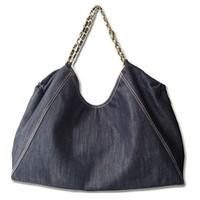 Wholesale Blue Denim Purse Bag - 2017 FASHION WOMEN'S CLASSIC CANVAS DENIM TOTE SHOPPING BAG 66942A SHOULDER BAG HANDBAG PURSE 88178 BLUE