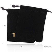 Wholesale Bear Bag Gift - Wholesale Black high-grade flannelette pouches jewelry packaging for gift bears jewelry
