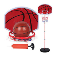 Wholesale Height Stand - Basketball Stands 73-170CM Height Adjustable Kids Children Basketball Goal Hoop Toy Set Record Growth