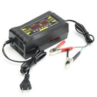 batterie intelligente 12v achat en gros de-Gros-1Pcs 110V / 220V complètement automatique voiture électrique intelligente 12V 6A Smart Fast Chargeur de batterie pour voiture moto écran LCD