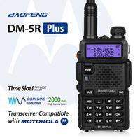 radyo vhf çift yönlü toptan satış-Baofeng DM-5R Artı DMR Dijital Walkie Taklie Dual Band Telsiz VHF UHF 136-174 / 400-480 MHz Iki Yönlü Radyo 2000 mAH