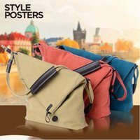 Wholesale Wholesale Crazy Horse Leather Bags - 6 Colors 30*26*10cm Women Bag Cross Body Vintage Casual Crazy Horse Leather Canvas Crossbody Bags Messenger Shouder Bag CCA7225 3pcs